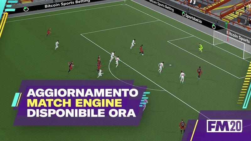 Aggiornamento Match Engine Football Manager 2020