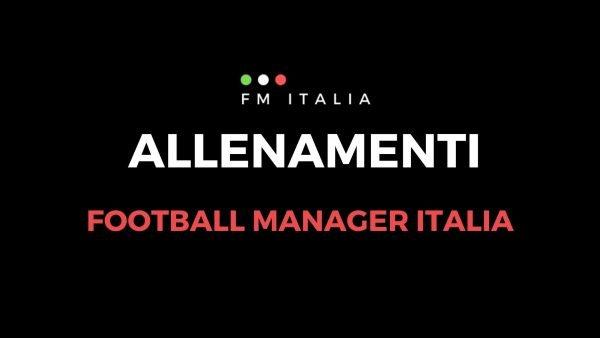 Sezione Allenamenti di Football Manager Italia