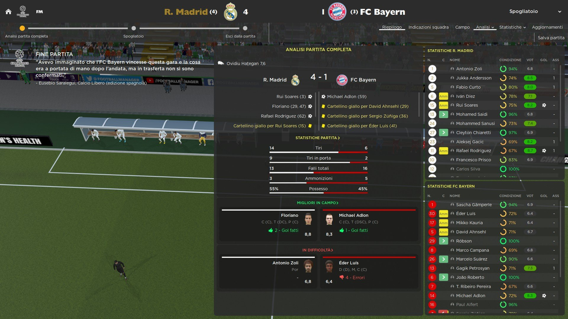 6 Semifinale ritorno Bayern